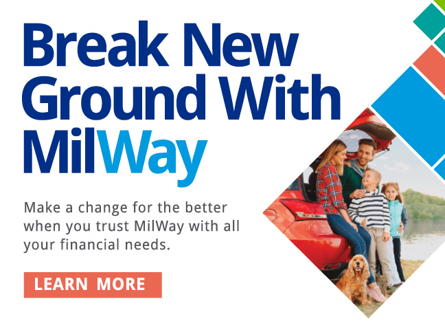Break new ground wiht milway. Learn more.